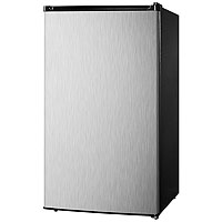 Summit FF43ESSS Refrigerator-Freezer w/Stainless Steel Door - 3.6 Cu. Ft., Black