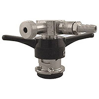 Low Profile D System Keg Coupler w/Pressure Relief Valve