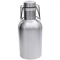 SS Growler - 32 oz Single Wall Stainless Steel Flip Top