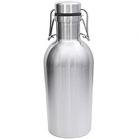 Inventory Reduction - SS Growler - 32 oz Double Wall Stainless Steel Flip Top