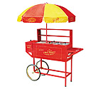 Nostalgia Electrics HDC-701 Old Fashioned Carnival Hot Dog Cart with Umbrella