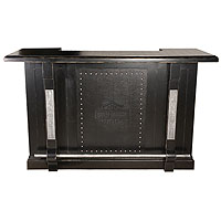 Bar & Shield Flames Bar - Vintage Black/Pewter Accents