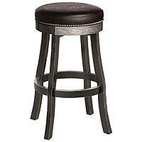 Bar & Shield Flames Bar Stool - Vintage Black