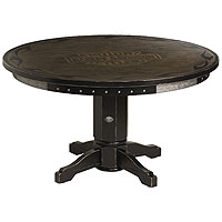 Bar & Shield Flames Poker Table w/ Vintage Black finish