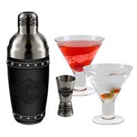 Harley-Davidson Martini Glass Set