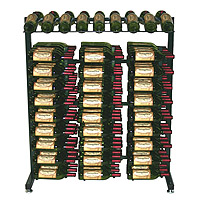 Vintage View IDR3-K Free Standing 180 Bottle Island Display Wine Rack - Satin Black Finish