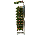 VintageView IDR3-H-P 90 Bottle Half Island Display Rack - Platinum Series Finish