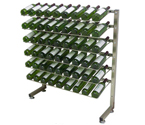 VintageView Select IDR3-H-PRS-P 54 Bottle One-sided Freestanding Display Rack - Platinum Series Finish