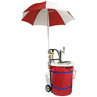 Draft Kart with Umbrella - Chrome Draft Tower