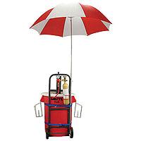 Draft Kart with Umbrella - Black Draft Tower