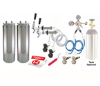 Kegco Two Keg Door Mount Homebrew Kegerator Kit Ball Lock - New Kegs