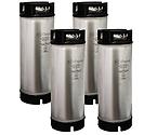 Kegco Kombucha Kegs - Ball Lock 5 Gallon Rubber Top - Brand New - Set of 4