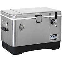 Single Faucet Stainless Steel Jockey Box - 54 Qt., 3/8