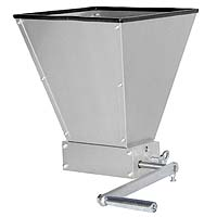 Grain Mill with 7lb Hopper and 2 Rollers