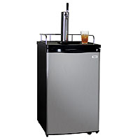 Kombucharator with Black Cabinet and Stainless Steel Door