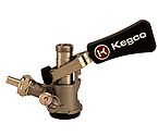 Keg Tap Beer Coupler D System Ergonomic Lever Handle Stainless Steel Probe - Kegco KTS97D-W