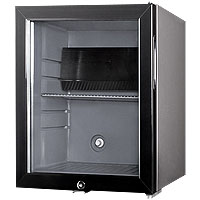 Summit MB25LGL Silent Hotel Minibar Refrigerator - Charcoal Grey with Glass Door