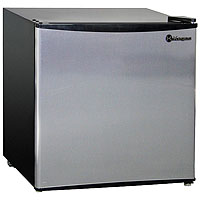 Kegco MDC160-1BS - 1.6 Cu. Ft. Compact Refrigerator - Black Cabinet with Stainless Steel Door