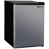 Kegco MDC240-1BS - 2.4 CF Compact Refrigerator - Black Cabinet with Stainless Steel Door