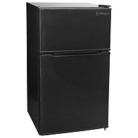3.1 Cu. Ft. Two Door Counterhigh Dorm Refrigerator - Black