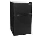 Kegco MDC315-2BB - 3.1 CF Two Door Counterhigh Dorm Refrigerator - Black