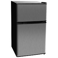 Kegco MDC315-2BS - 3.1 CF Two Door Counterhigh Dorm Refrigerators - Black Cabinet with Stainless Steel Door