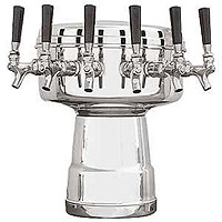 Chrome 6-Faucet Mushroom Draft Beer Tower - 7-1/2