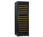 N'Finity 170 Bottle Wine Cellar Refrigerator - Black Cabinet with Black Door - Door Hinge on Left