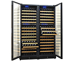 N'Finity 340 Bottle Multi-Temp Wine Cellar - Black Cabinet with Black Door
