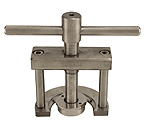 Valve removal press for drop-in keg valves