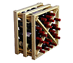 Allavino Pronto Wine Rack 24 Bottle Redwood Lattice X-Bin Stackable Cube PRL2124X
