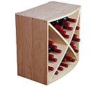 Allavino Pronto Wine Rack 24 Bottle Pine Radius X-Bin Stackable Cube PRS3024R