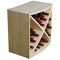 Allavino Pronto Wine Rack 24 Bottle Pine Radius X-Bin Stackable Cube PRS3024R