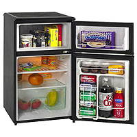 Avanti RA304BT-1 - 3.1 CF Two Door Counterhigh Refrigerator - Black