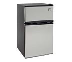 Avanti RA3136SST - 3.1 CF Two Door Counterhigh Refrigerator - Black with Stainless Steel Doors