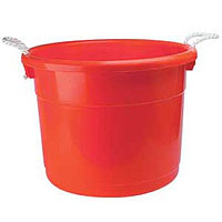 Brute 19 Gallon Keg Bucket with Rope Handles
