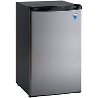 Avanti RM4436SS - 4.4 CF Counterhigh Refrigerator - Black with Stainless Steel Door