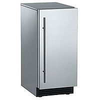 Ice Maker 30 lbs. Gravity Drain - Stainless Steel Cabinet and Unfinished Door