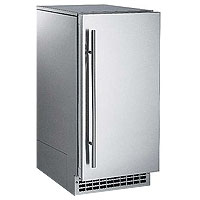 Nugget Ice Maker 80 lbs. Drain Pump  - Stainless Steel Cabinet and Door