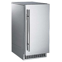 Nugget Ice Maker 80 lbs. Drain Pump - Stainless Steel Cabinet and Unfinished Door