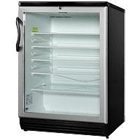 5.5 cf Glass Door All Refrigerator - Black