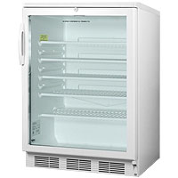 5.5 cf Glass Door All Refrigerator - White