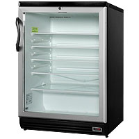 Summit SCR600BLPUB 5.5 Cu. Ft. Commercial Beverage Cooler with Glass Door