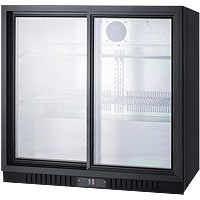 7.4 cf Undercounter Beverage Cooler w/Sliding Glass Doors