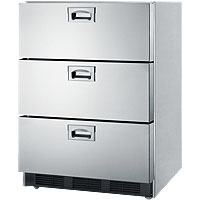 Commercial Stainless Steel 3-Drawer Refrigerator