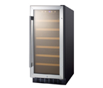Summit SWC1535B 33-Bottle Built-in Undercounter Wine Cooler