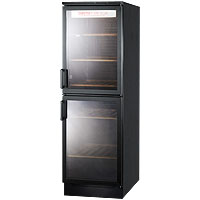 Summit SWC1775 120 Bottle Wine Refrigerator with Two Double-Paned Glass Doors