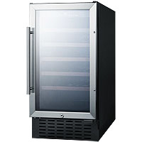 Scratch & Dent - Summit SWC1840 Wine Cooler 34 Bottle 18