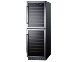 Summit SWC1875B 118 Bottle Dual Zone Wine Refrigerator