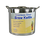 Polar Ware 20 Qt. Economy Stainless Steel Brew Kettle